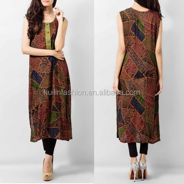 huilin fashion new design sleeveless maxi dress in pakistan tradition clothing