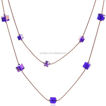 two layer crystal necklace multi strand jewelry costume jewellery
