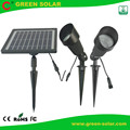 Aluminum Die-casting Garden Solar Light with Set of 2 *18 LED