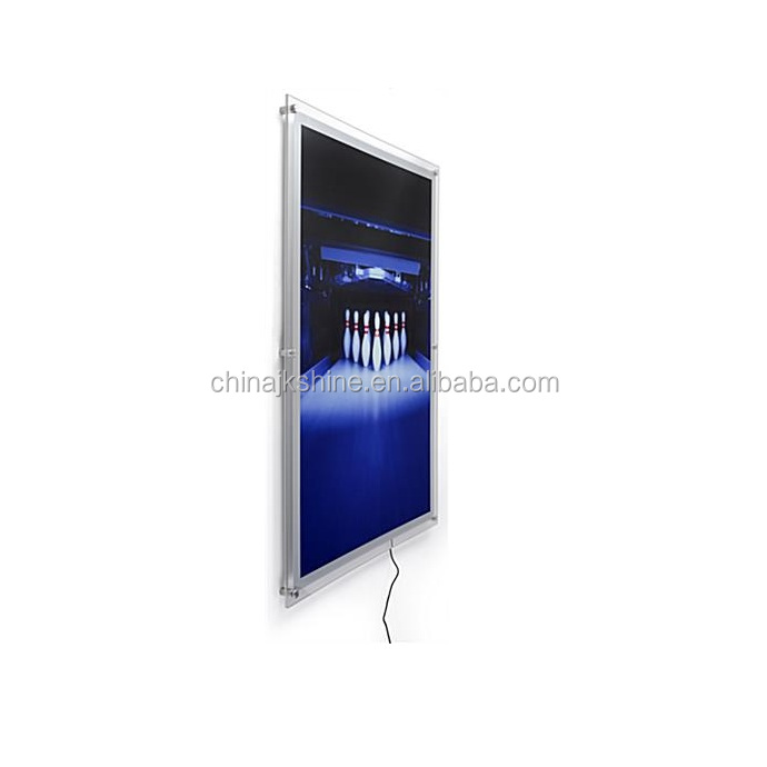 A3,A4,B1,B2 Acrylic Poster Display Panel <strong>Frame</strong>/<strong>LED</strong> Backlit Ceiling Hanging Crystal Light Box