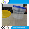 Transparent food grade plastic bucket food container with lid