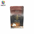 Metallic aluminum foil side gussest coffee packing with one way degassing air valve