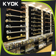KYOK AB AC Color plating double curtain rod wholesale