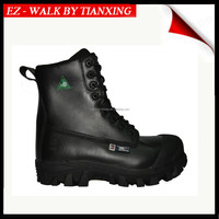 Heavy work leather safety shoes
