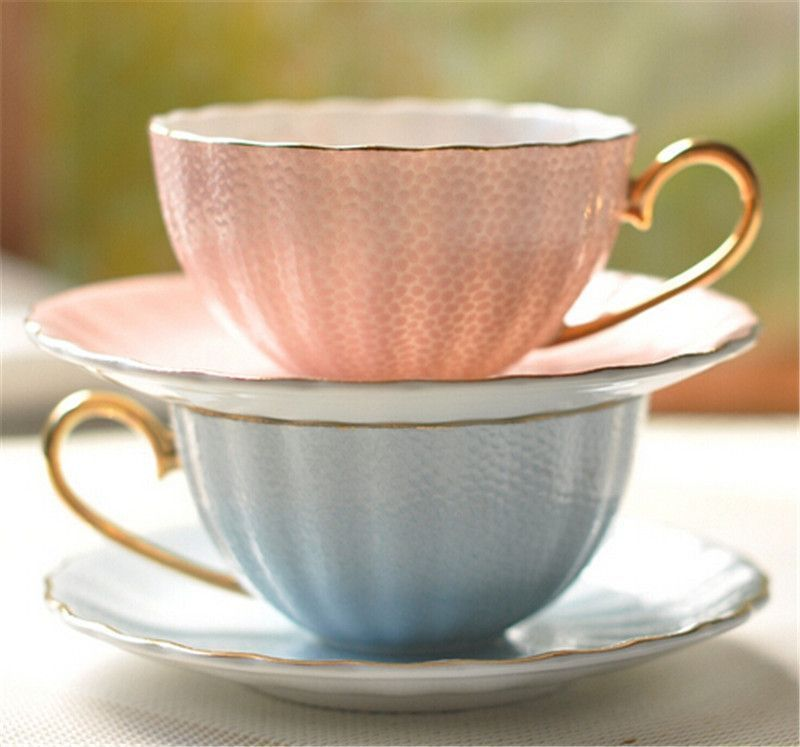 wholesale ceramic custom printed tea cups and saucers coffee cup