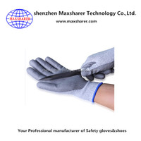 Top quality cut resistant pu gloves cheapest industrial safety gloves nylon protect hand gloves