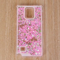 2016 Hot Sale Liquid Glitter Sand Star Quicksand Crystal Phone Cover Case For Samsung Note3/Note4