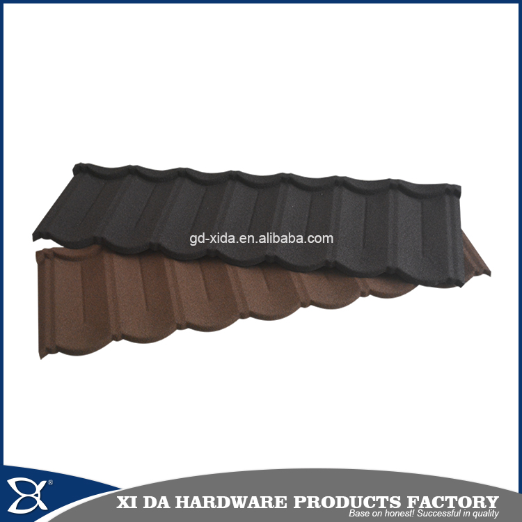Popular colorful stone coated metal roofing tiles,sand coated steel roof tile