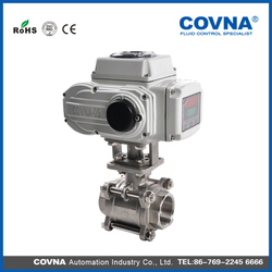electronic valve DN20 motorized solenoid ball valve actuator