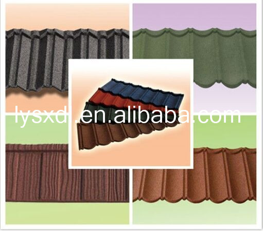 New Sunlight popular colorful stone coated metal roofing tile/metal corrugated tile roofing/asphalt shingles