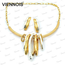 2015 Viennois Wholesale Dubai Gold Jewelry Sets 18K Gold Plated Jewelry Sets