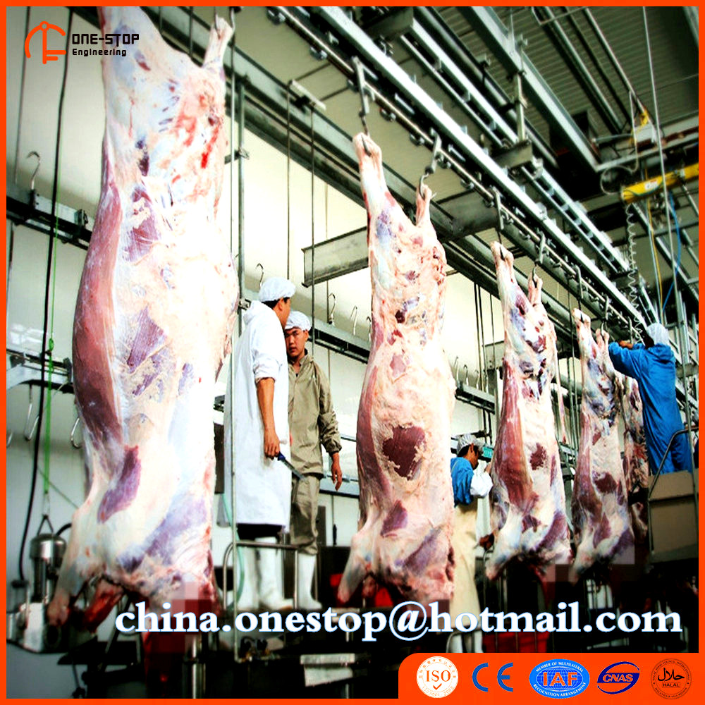 Halal Buffalo Slaughterhouse Complete Lamb Cattle Slaughter Equipment Line Islamic Cow Bull Slaughter Machine