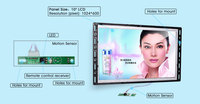 "bus lcd hot sex video player 10.1"" TFT Touch Screen Monitor bus video lcd advertising player"
