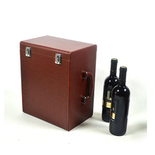 alibaba china wooden portable 6-bottle wine carrier