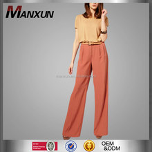 New Collection Islamic Clothing Wide Leg Pants Women Muslim Pants Loose Palazzo Pants Women Plain Color High waite Loose Trouser