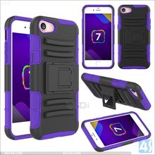 For iphone 7 plus cell phone cover,for iPhone 7 plus Stand Belt Clip Holster combo PC Case made in China