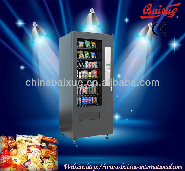 vending machine VCM-4000 with refrigerated system cold drinks and beverages combo selling machine CE, ETL RoHS standard CE, ETL,