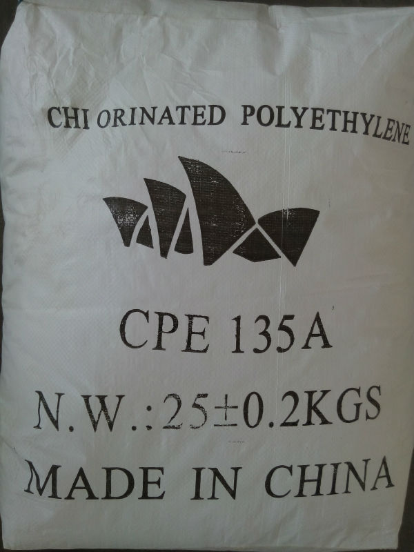 Chlorinated Polyethylene, CPE 135A, raw material for pvc products