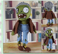 Plush geek zombie animal for halloween holiday gift stuffed animal toys plush pets toys Soft Stuffed Toys Plant VS Zombies