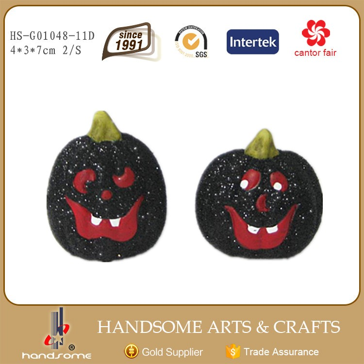 7cm Handmade China Art Supplies Small Gift Item Halloween Craft Pumpkin