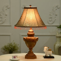 Manufacturer direct sales low price home decor bedside LED resin table lamp