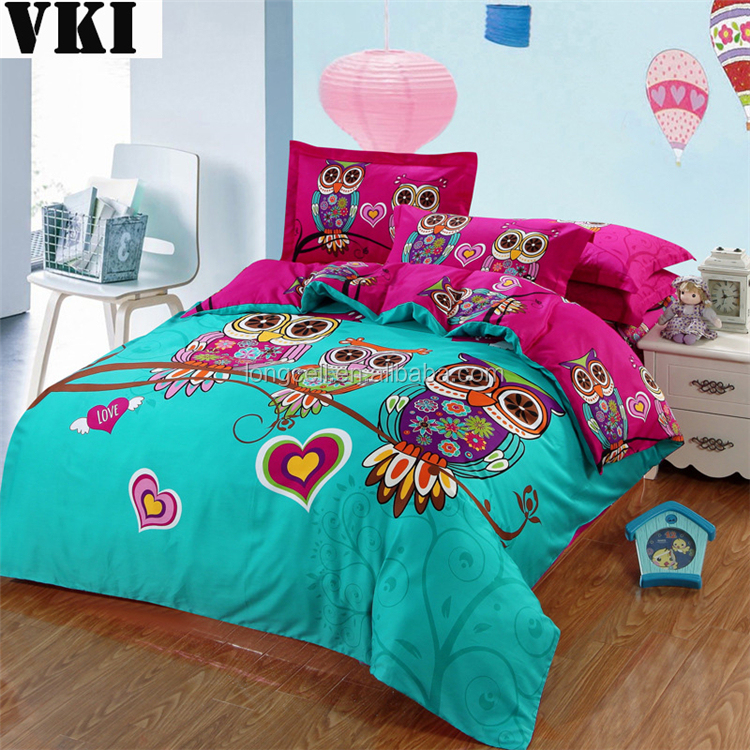 wholesale 3d printed polyester cartoon quilt kids duvet cover