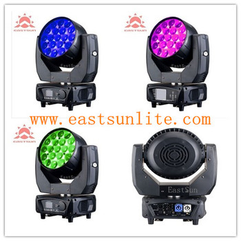 Beam Zoom Wash Aura 19*15w 4in1 led moving head stage lighting
