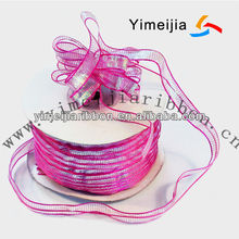 wire mesh sheer ribbon,can make flower craft