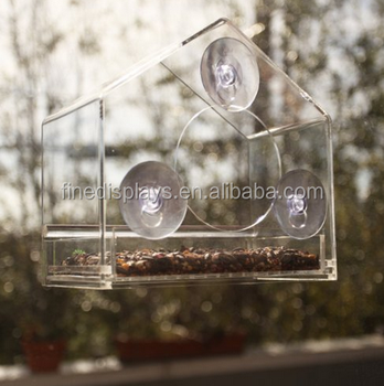 Squirrel-Proof Acrylic Window Bird Feeder By Gamgee's Garden- Watch Wild Birds Feed up Close