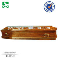 Professional funeral solid wooden coffin decoration