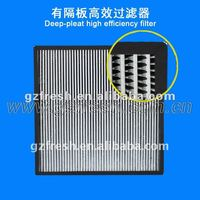 H14 99.99% Hepa Filter for air conditioner with ISO9001 certificate,air box filter