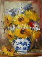 Beautiful flower oil painting pictures in small size