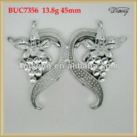 BUC7356 silver flower fashion plastic belt buckle