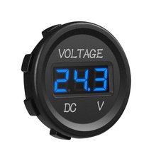 12V LED Digital Display Voltmeter Waterproof for Boat Marine Vehicle Motorcycle