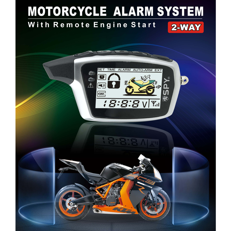 2018 rfid 2 way remote engine start  motorcycle alarm system
