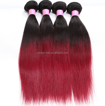 Qingdao Yotchoi Malaysian hair Grade 5A color 1B/99j# sew in human hair weave ombre hair
