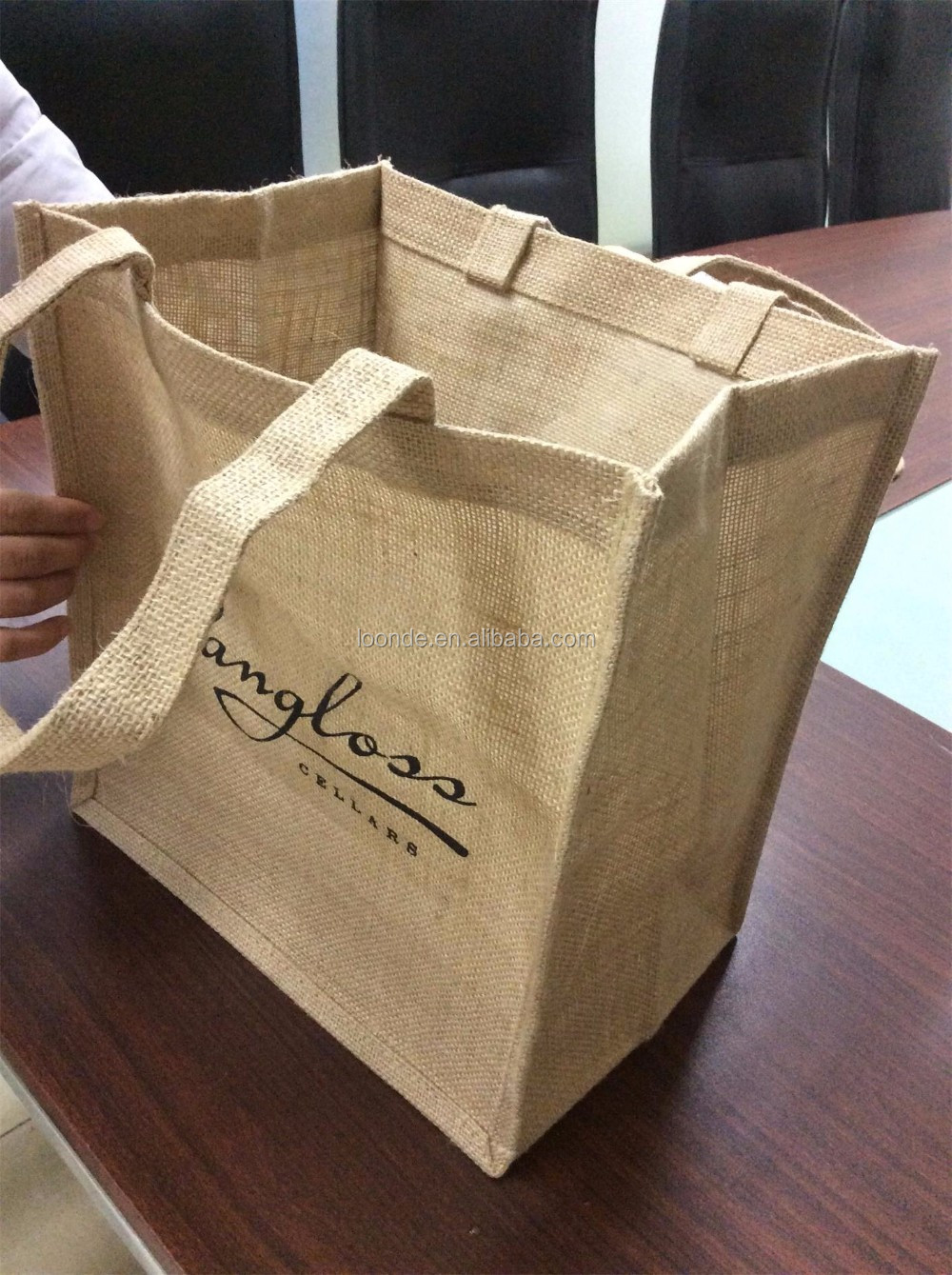 Excellent quality low price importer of jute tote shopping bag , jute bag