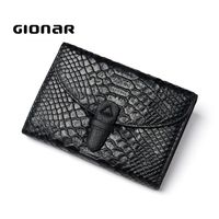 Custom Order Wholesale Genuine Leather Slim Crocodile Skin European Leather Wallet for Women