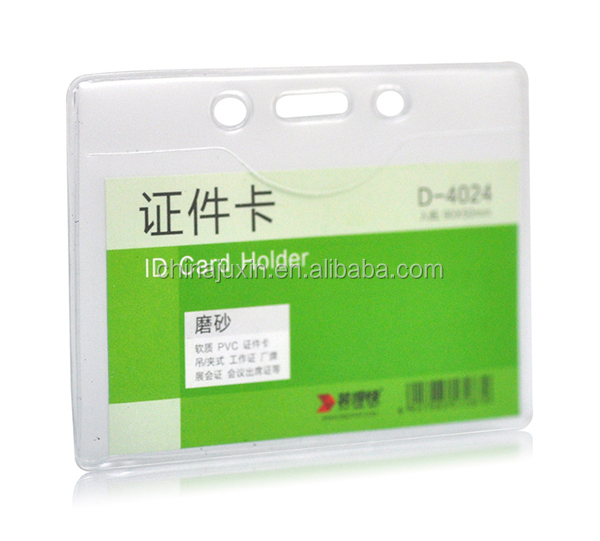 clear waterproof ID Card holder badge holder
