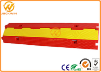Plastic PVC Reflective Event 2 Channel Cable Protector Ramp