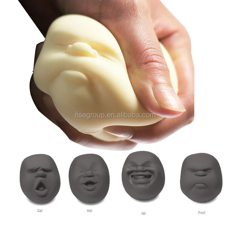funny PU squeeze face stress ball