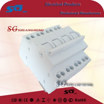 Changeover Switch suitable for DIN Rail Mounting Electrical manual Changeover Switch