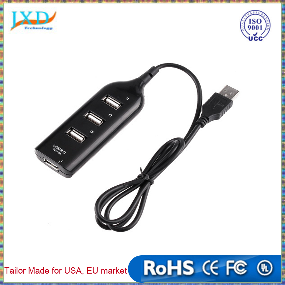 Wholesale High Speed Micro Mini 4 Port USB 2.0 Hub USB Port For Laptop PC Computer Laptop Peripherals Accessories