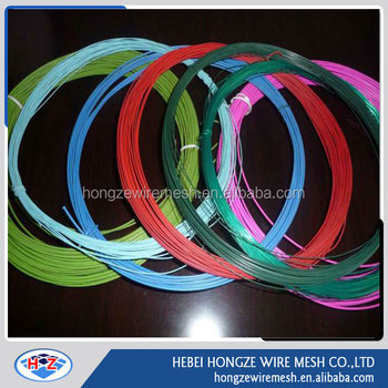 Different colors of PVC coated wire/PVC coated iron wire
