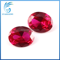 Wholesale oval shape 7*9mm lab created ruby