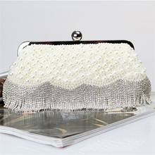 Fashion satin crystal dinner evening bag hot sale ladies bridal clutch bags