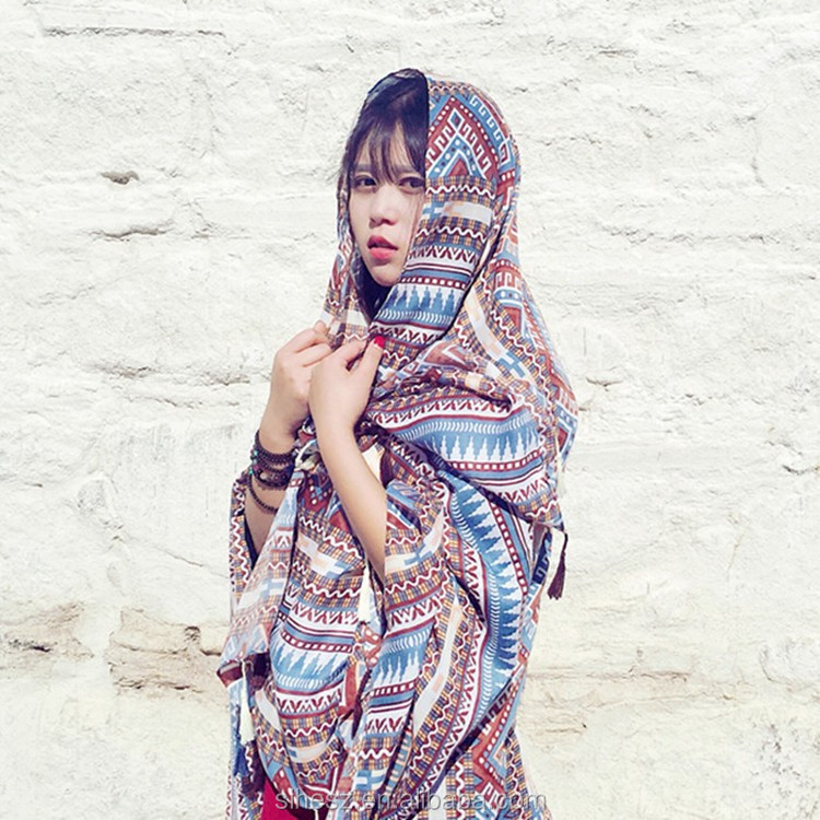 Wholesale Bohemia Printed Voile Scarf Travel shawls