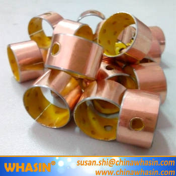 DX Bush 17x19x12mm Steel+Bronze powder+POM(Yellow Color) With Copper-plating SF-2 Bushing