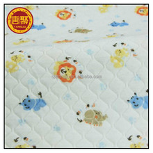 100% Cotton Fabric Printed Double Sided Quilted Fabric for Baby