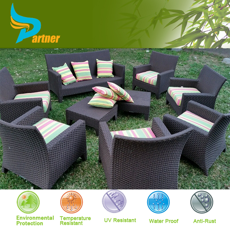 Fancy import rattan round sofa fiberglass outdoor furniture